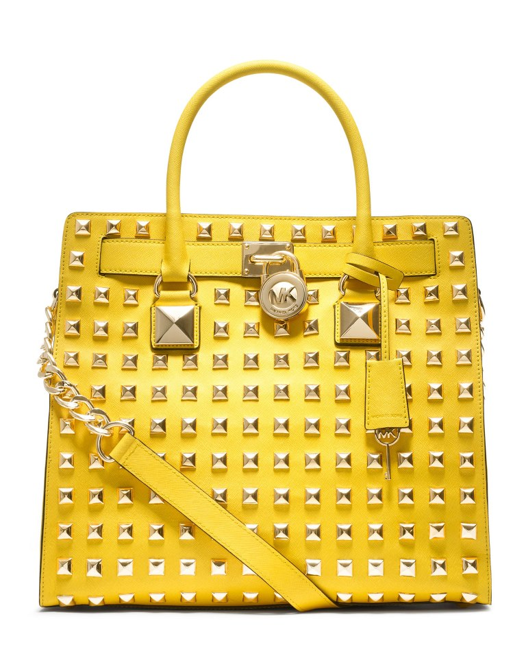 f8319bc8e5b1 Michael Kors Studded Yellow Bag